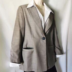 Zanella blazer Gray blend with shoulder pads 10